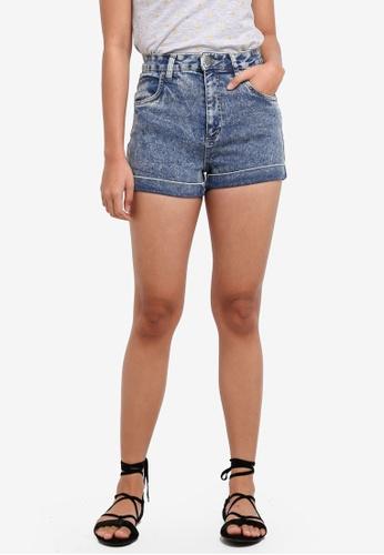 Cotton On blue High Rise Classic Stretch Denim Shorts 7E67CAACF962F6GS_1