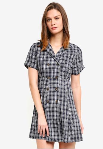 Haute Kelly black Ki Checkered Dress 7EADEAAE802D3EGS_1
