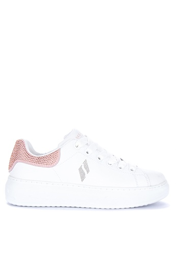 ac37fd9eab66 Skechers white High Street Shimmer As You Go Lace Up Sneakers  55AB0SHEA2BEE7GS 1