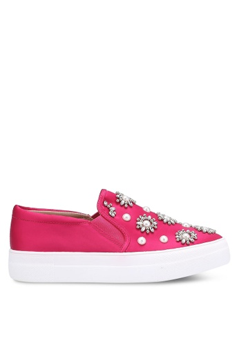 TOPSHOP pink TILT Embellished Slip On Shoes TO412SH0RCGBMY_1