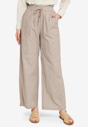 niko and ... beige Woven Stripe Pants 6386FAAF7E00FCGS_1