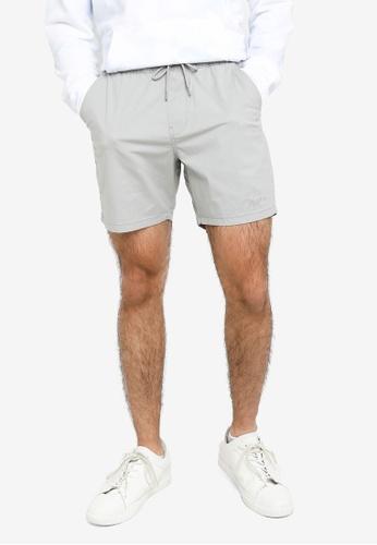 Hollister grey Plain Jogger Shorts 0D18FAAE2656E7GS_1