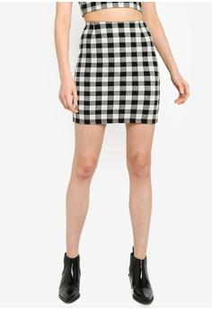02f9c4503b Miss Selfridge black Gingham Mini Skirt C41FEAAB85C4FEGS_1