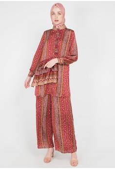 Kamilaa by Itang Yunasz red and multi Setelan Etnik 2F4FDAA8E7F238GS_1