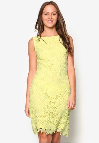 鉤花直筒式洋裝, 服飾,esprit 香港 洋裝