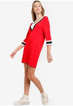 a8bda1ae07 37% OFF Something Borrowed Colorblock Knit Sweater Dress RM 109.00 NOW RM  68.90 Sizes L