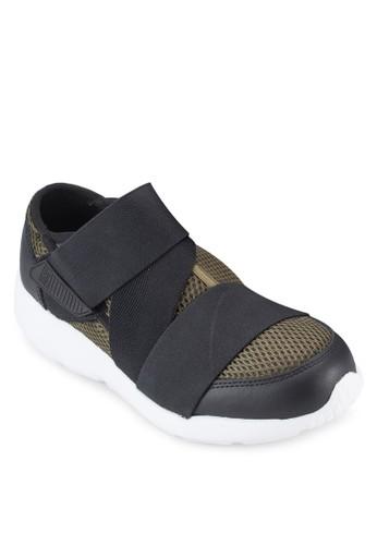 Stradaesprit 尖沙咀 交錯帶網格運動鞋, 女鞋, 鞋