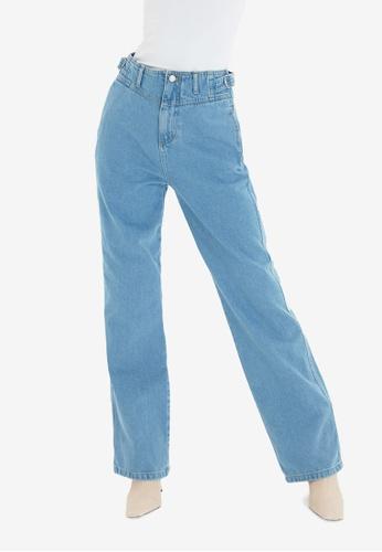 Trendyol blue High Waist Mom Jeans 7A446AA2F3D005GS_1