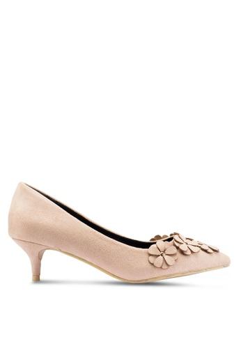 Carlton London 米褐色 花卉高跟鞋 4295CSH54413B9GS_1