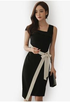 Sunnydaysweety black Design Polyester Summer Dress 82D9EAA702B1FAGS 1 fdd2a7bb7