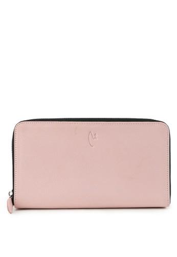 Vermont pink Luxury Genuine Leather Zipper Wallet Original 8D3E5ACB2DF8D1GS_1