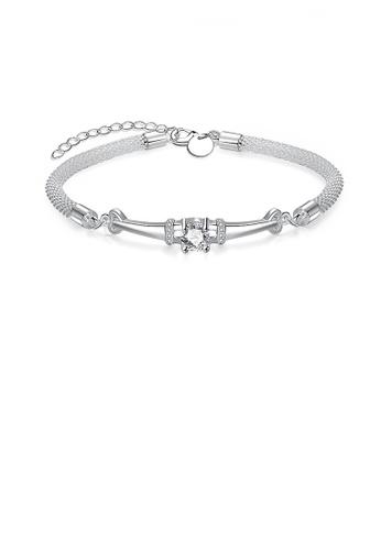 Glamorousky white Elegant Shining Bracelet with Cubic Zircon F8A4CAC0DEF797GS_1
