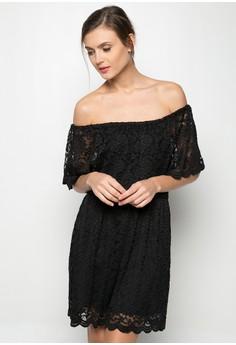 Lace Off-shouler Dress