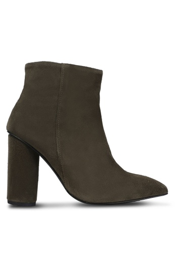 Selected Femme green Alexandra Suede Heeled Boots SE157SH0RMC6MY_1