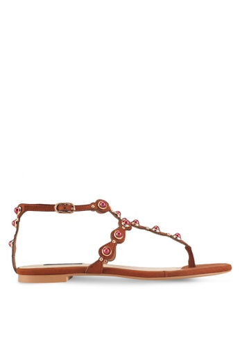 ZALORA brown Bohemian-look Sandals 8D7CASHA991F43GS_1