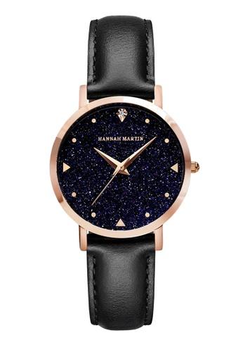HANNAH MARTIN multi Hannah Martin Women Classic Crystalline Leather Quartz Watch 59A64AC68C64CEGS_1