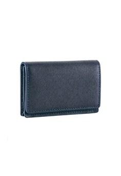 034e96db5f Maverick & Co. blue and navy Maverick & Co. Sartorial Leather Business Card  Case