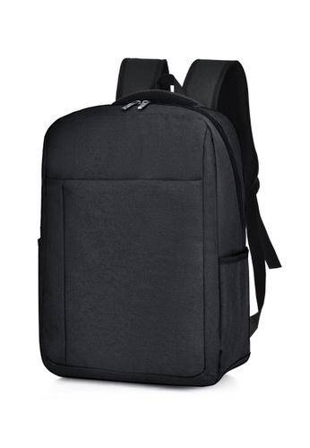 Jackbox black Korean Simple Design Ipad Laptop Bag Casual Business Backpack 549 (Black) B9171ACBDB5FF6GS_1