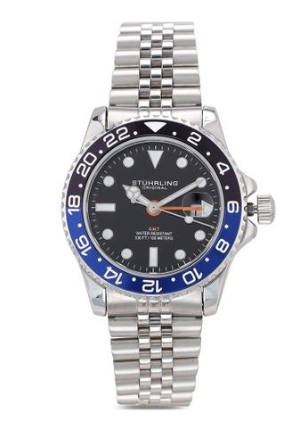 Stuhrling Original silver Aquadiver 3968 Watch F5636AC68C5BEAGS_1