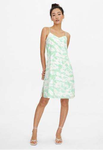 Pomelo green Tie Dye Slip Dress - Green 56B02AA8382FBDGS_1