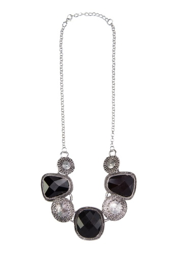Zolace black and multi and silver Southeast Soiree Necklace ZO350AC38ANDMY_1