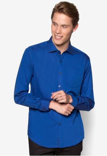 素色貼zalora 心得 ptt身長袖襯衫, 服飾, 襯衫