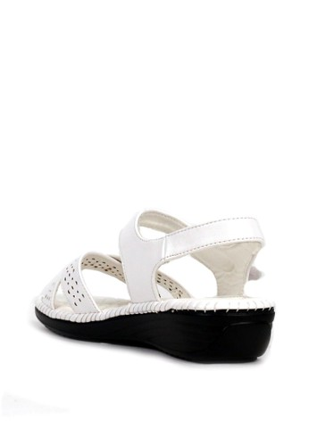 Jual BETTINA Bettina Sandals Brenna - White Original | ZALORA Indonesia ®