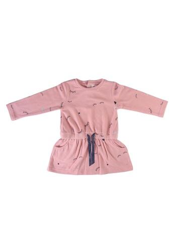 Babybol pink Long Sleeve Dress E26A0KA3345743GS_1