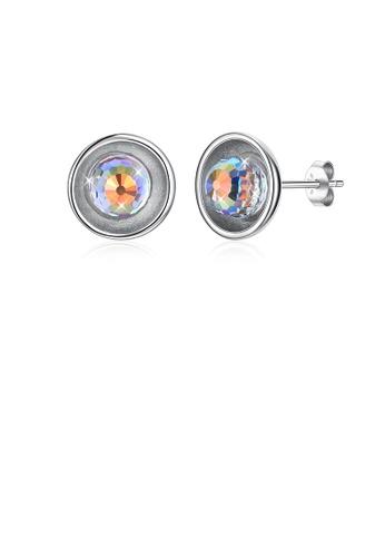 Glamorousky white 925 Sterling Silver Simple Elegant Round Austrian Element Crystal Stud Earrings 92DD7ACA2620A2GS_1