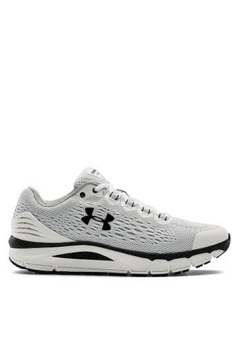 Under Armour white UA Charged Intake 4 Sneakers 28E31SHA2CF4A2GS_1
