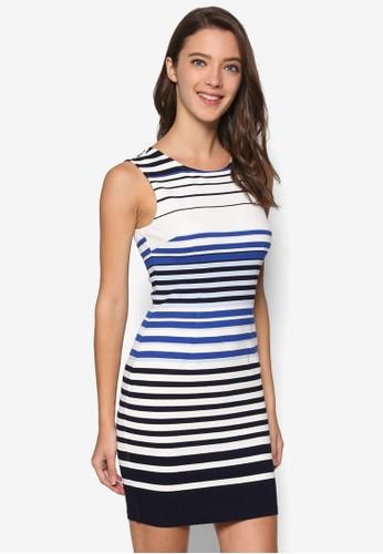 條紋無袖連身裙, 服飾, esprit 兼職洋裝