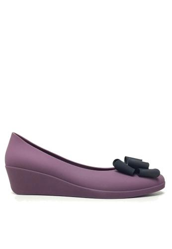 Twenty Eight Shoes 紫色 立體蝴蝶果凍膠船跟雨鞋 VRA840 47310SH084B07BGS_1