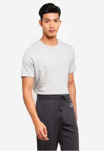 GAP grey Everyday Crew T-Shirt 0590FAAEE6CC53GS_1