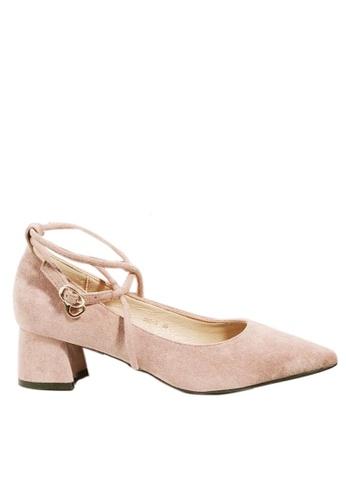 Twenty Eight Shoes Cross Strap Pointy Pumps 999-9 5646DSH2D6DFA9GS_1