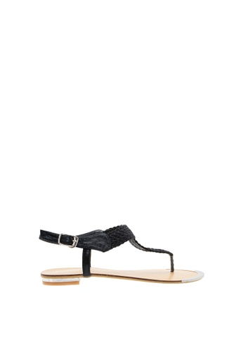 SEMBONIA black SEMBONIA Synthetic Leather Flat Sandal (Black) 8A250SH5B51891GS_1