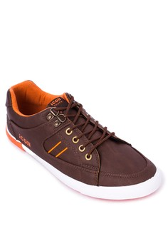 PU Leather Lace-up Sneakers