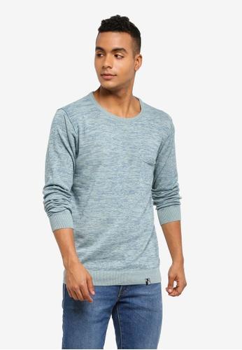 Indicode Jeans 藍色 混色長袖針織毛衣 ACCB7AADFB73F3GS_1
