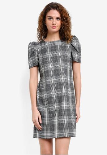 Dorothy Perkins grey Check Shift Dress DO816AA0RP41MY_1