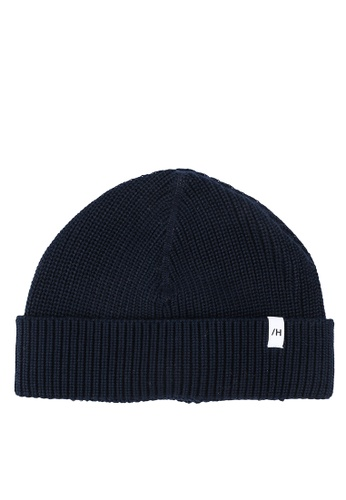 Selected Homme navy Rossi Knit Beanie 9483DAC4BA365CGS_1