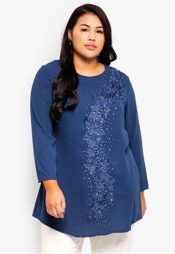 BYN blue Plus Size Muslimah Blouse 2EB51AA1B13544GS_1