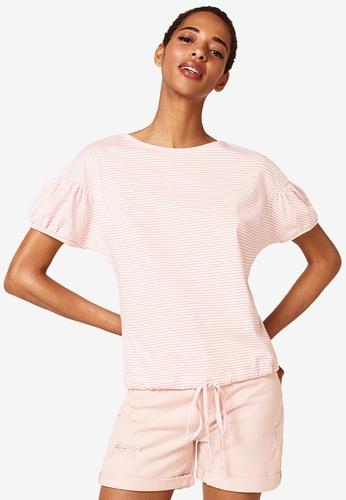 ESPRIT 粉紅色 短袖T恤 A5DBEAAA82DA15GS_1