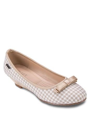 esprit地址蝴蝶結千鳥紋楔形鞋, 女鞋, 鞋