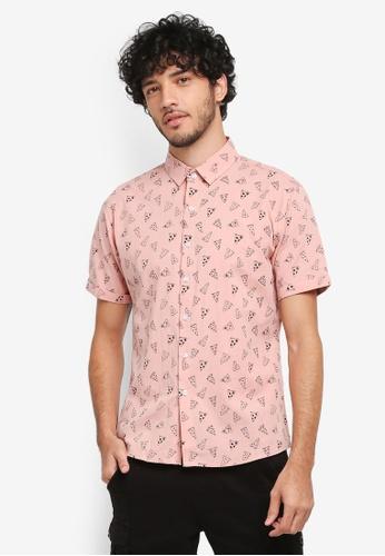 JAXON pink Pizza Aop Shirt 6A2E0AA6FB06EEGS_1