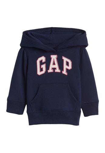 GAP blue Logo Pullover Hoodie EC454KAE0AA1B2GS_1