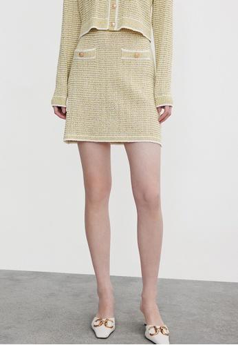 URBAN REVIVO yellow Casual Skirt 1E364AA8DC6A4BGS_1