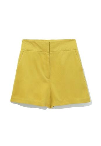 b+ab yellow Tailored shorts 05E68AA52FF8CBGS_1
