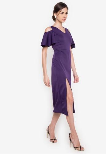 Deity purple Bridesmaid V-Neck Dress DE412AA17DXIPH_1