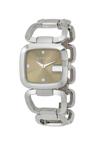 e6f1b4c3779 Gucci silver and brown GUCCI 125 G- Series Bracelet Ladies Watch  42B72AC1D1336AGS 1