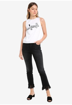 0bcf4528ea 64% OFF Something Borrowed Graphic Shell Top HK$ 159.00 NOW HK$ 56.90 Sizes  XS S M L XL