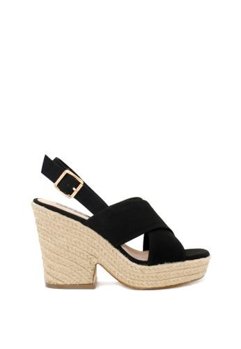 London Rag black Helen Heel Sandals 70D43SH651489BGS_1